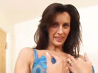 Stuning Milf in blue lingerie fuckin young man