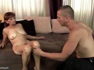 Horny mature red head getting fucked hard